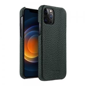 "Кожаный чехол накладка Melkco для Apple iPhone 12 Pro Max (6.7"") - Snap Cover - темно-зеленый"