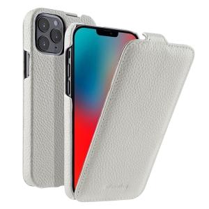 """Кожаный чехол флип Melkco для Apple iPhone 12/12 Pro (6.1"""") - Jacka Type - белый"""