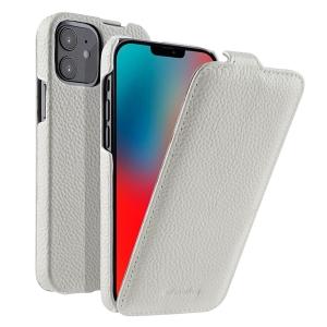 "Кожаный чехол флип Melkco для Apple iPhone 12 mini (5.4"") - Jacka Type, белый"