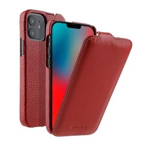 """Кожаный чехол флип Melkco для Apple iPhone 12 mini (5.4"""") - Jacka Type, красный"""