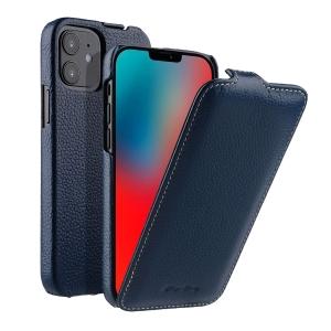 """Кожаный чехол флип Melkco для Apple iPhone 12 mini (5.4"""") - Jacka Type, темно-синий"""