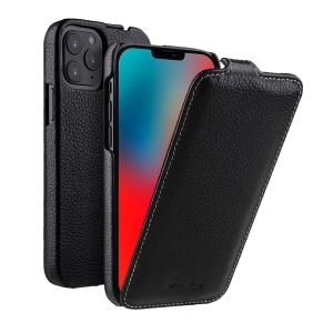 """Кожаный чехол флип Melkco для Apple iPhone 12/12 Pro (6.1"""") - Jacka Type - черный"""