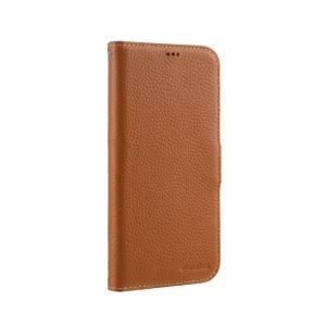 """Кожаный чехол книжка Melkco для iPhone 12/12 Pro (6.1"""") - Wallet Book Type - оранжевый"""