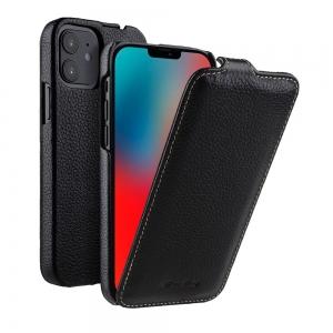 """Кожаный чехол флип Melkco для Apple iPhone 12 mini (5.4"""") - Jacka Type, черный"""