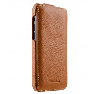 """Кожаный чехол флип Melkco для Apple iPhone 12 mini (5.4"""") - Jacka Type, оранжевый"""