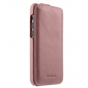 """Кожаный чехол флип Melkco для Apple iPhone 12 mini (5.4"""") - Jacka Type, розовый"""