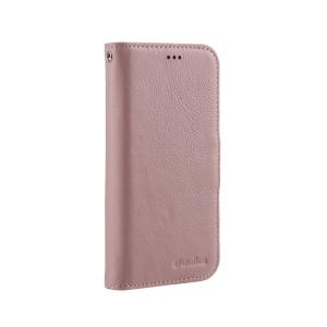 "Кожаный чехол книжка Melkco для Apple iPhone 12 mini (5.4"") - Wallet Book Type, розовый"