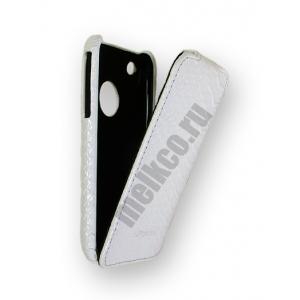 Кожаный чехол Melkco для Apple iPhone 3GS/3G - Jacka Type - змеиная кожа - белый