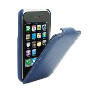 Кожаный чехол Melkco для Apple iPhone 3GS/3G - Jacka Type - тёмно-синий