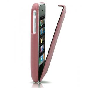 Кожаный чехол Melkco для Apple iPhone 3GS/3G - Jacka Type - розовый