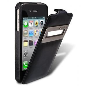 Кожаный чехол Melkco для Apple iPhone 4/4S - Jacka ID Type (Vintage Black) - черный