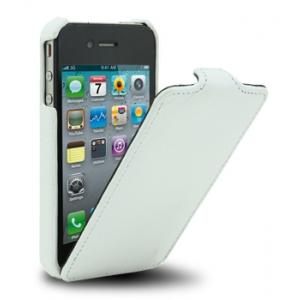 Кожаный чехол Melkco для Apple iPhone 4/4S - Jacka Type - белый