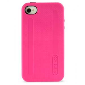 Двухслойный противоударный чехол Melkco Kubalt Double Layer Case для Apple iPhone 4/4S - розово-черный