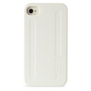 Двухслойный противоударный чехол Melkco Kubalt Double Layer Case для Apple iPhone 4/4S - бело-серый