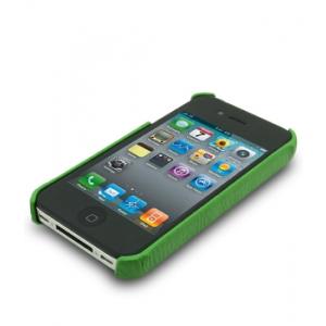 Кожаный чехол - задняя крышка Melkco для Apple iPhone 4/4S - зеленый