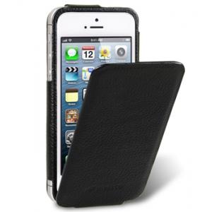 Кожаный чехол Melkco для Apple iPhone 5/5S / iPhone SE - Diary Flip Type - черный