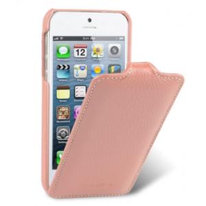 Кожаный чехол Melkco для Apple iPhone 5/5S / iPhone SE - Jacka Type - розовый