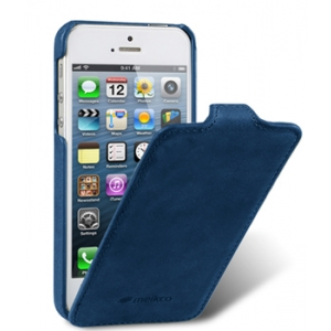 Кожаный чехол Melkco для Apple iPhone 5/5S / iPhone SE - Jacka Type (Classic Vintage Blue) - синий