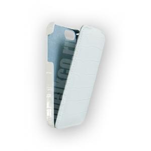 Кожаный чехол Melkco для Apple iPhone 5/5S / iPhone SE - Jacka Type - крокодиловая кожа - белый