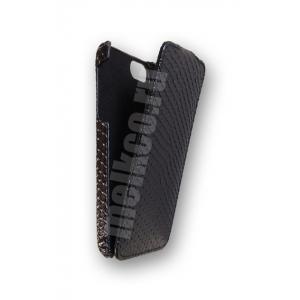 Кожаный чехол Melkco для Apple iPhone 5/5S / iPhone SE - Jacka Type - змеиная кожа - черный
