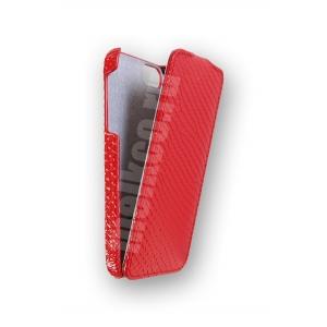 Кожаный чехол Melkco для Apple iPhone 5/5S / iPhone SE - Jacka Type - змеиная кожа - красный