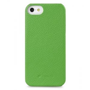 Кожаный чехол - задняя крышка Melkco для Apple iPhone 5/5S / iPhone SE - Snap Cover - зелёный
