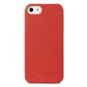 Кожаный чехол - задняя крышка Melkco для Apple iPhone 5/5S / iPhone SE - Snap Cover - красный