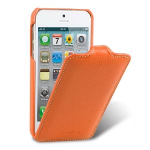 Кожаный чехол Melkco для Apple iPhone 5/5S / iPhone SE - Jacka Type - оранжевый