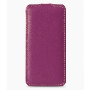 Кожаный чехол Melkco для Samsung Galaxy S5 Mini - Jacka Type - сиреневый