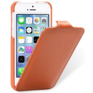 Кожаный чехол Melkco для Apple iPhone 5C - Jacka Type - оранжевый