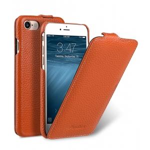 Кожаный чехол Melkco для Apple iPhone 8/7 - Jacka Type - оранжевый