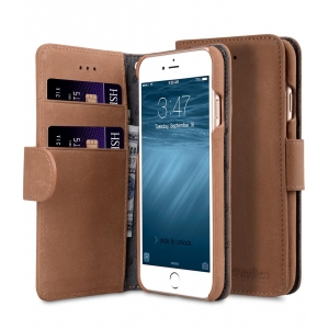 """Кожаный чехол книжка Melkco для iPhone 7/8 (4.7"""") - Wallet Book Type (Classic Vintage Brown) - коричневый"""