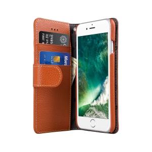 """Кожаный чехол книжка Melkco для iPhone 7/8 (4.7"""") - Wallet Book Type - оранжевый"""