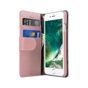 """Кожаный чехол книжка Melkco для iPhone 7/8 (4.7"""") - Wallet Book Type - розовый"""