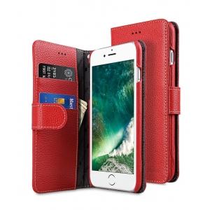 """Кожаный чехол книжка Melkco для iPhone 7/8 Plus (5.5"""") - Wallet Book Type - красный"""