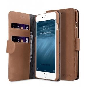"""Кожаный чехол книжка Melkco для iPhone 7/8 Plus (5.5"""") - Wallet Book Type (Classic Vinatge Brown) - коричневый"""