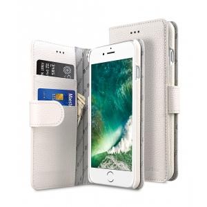"""Кожаный чехол книжка Melkco для iPhone 7/8 Plus (5.5"""") - Wallet Book Type - белый"""