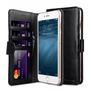 """Кожаный чехол книжка Melkco для iPhone 7/8 Plus (5.5"""") - Wallet Book ID Slot Type - черный"""