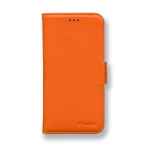 Кожаный чехол книжка Melkco для Apple iPhone X/XS - Wallet Book Type - оранжевый