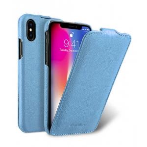 Кожаный чехол Melkco для Apple iPhone X/Xs - Jacka Type - голубой