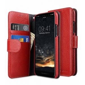 Кожаный чехол книжка Melkco для Apple iPhone X/XS - Wallet Book Type - красный