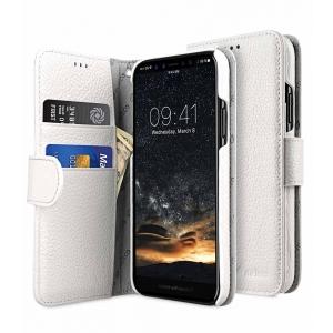Кожаный чехол книжка Melkco для Apple iPhone X/XS - Wallet Book Type - белый