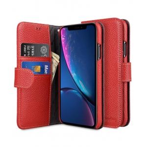 Кожаный чехол книжка Melkco для Apple iPhone Xr - Wallet Book Type - красный