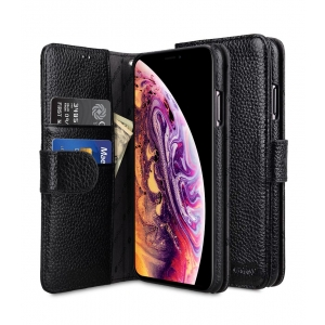 """Кожаный чехол книжка Melkco для Apple iPhone Xs Max 6.5"""" - Wallet Book Type - черный"""