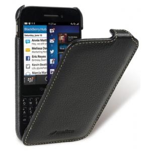 Кожаный чехол Melkco для Blackberry Q5 - Jacka Type - чёрный