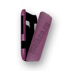 Кожаный чехол Melkco для Nokia N8 - Jacka Type - сиреневый