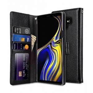 Кожаный чехол книжка Melkco для Samsung Galaxy Note 9 - Wallet Book ID Slot Type - черный