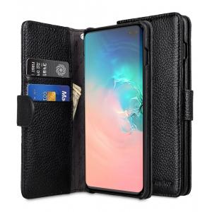 Кожаный чехол книжка Melkco для Samsung Galaxy S10+ - Wallet Book Type - черный