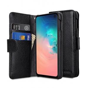 Кожаный чехол книжка Melkco для Samsung Galaxy S10e - Wallet Book Type - черный