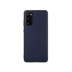 Кожаный чехол накладка Melkco Ingenuity Series для Samsung Galaxy S20, темно-синий